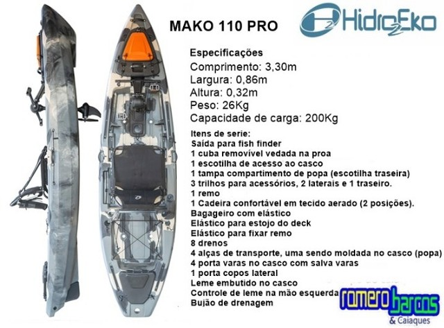 Caiaque mako 110