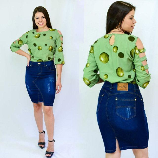 Saias jeans evangélica  direto da fábrica  barato - Foto 3