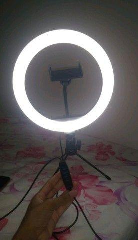 Ring Light 26cm/10 Polegadas + Tripé De Mesa + Suporte Celular - Foto 2