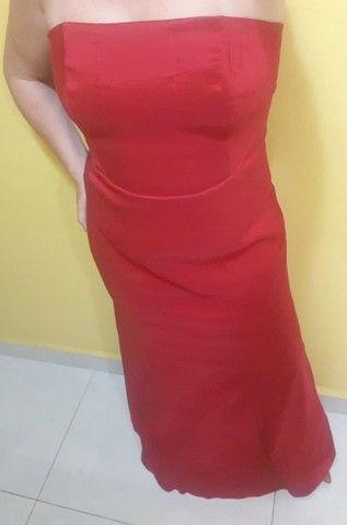 Vestido de Festa TVZ Vermelho - Foto 3