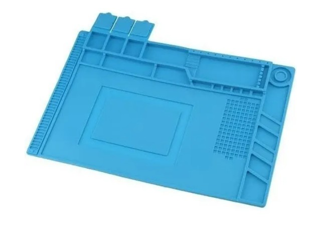 Manta Tapete Anti-Estático 45cm x 30cm com Divisória - Bancada Conserto de Celular - Foto 4