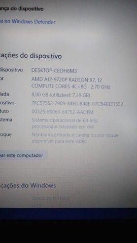 Notebook Lenovo AMD12 - equivalente a i7 7° geração  - Foto 4