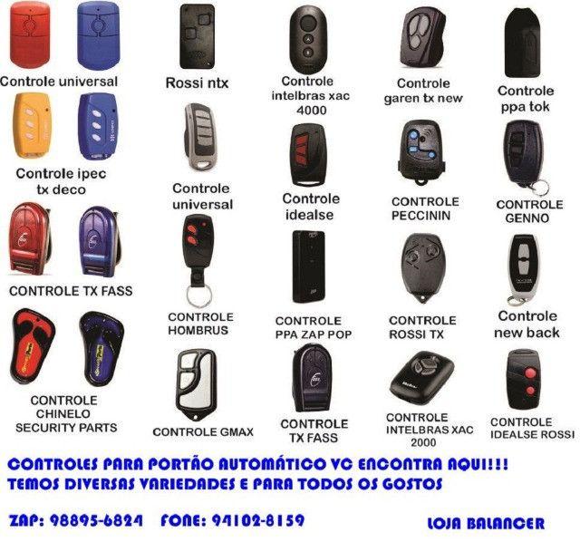 Controle remoto para motor de portão (security parts) chinelinho - Foto 4
