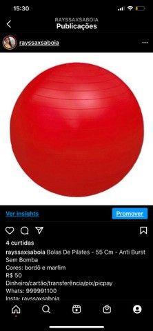 Bolas De Pilates - 55 Cm - Anti Burst Sem Bomba