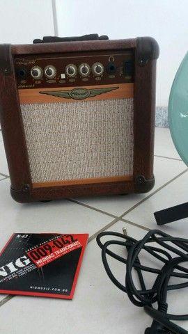 Guitarra em ótimo estado usadas pouquíssimas vezes com kit - Foto 2