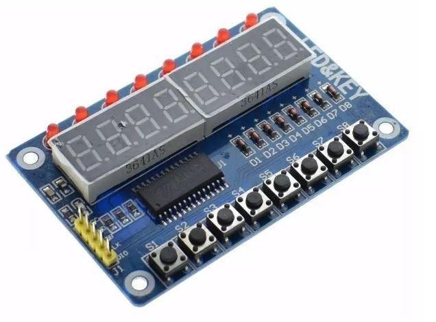 COD-AM57 Display Digital Led 8 Bits Vermelho Arduino Robotica Automação
