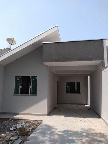 Casa nova Jd Madri, 3 quartos, garagem + espaço fundos