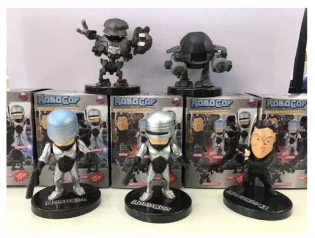 5 Miniatura Bonecos Robocop Ed-209 Murphy Colecionáveis - Foto 3