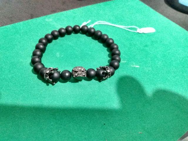 Bracelete Zircônias Pretas - Foto 2