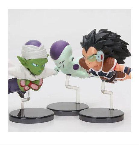 Dragon Ball Kit 6 Miniaturas Boneco Goku Freeza Piccolo - Foto 3