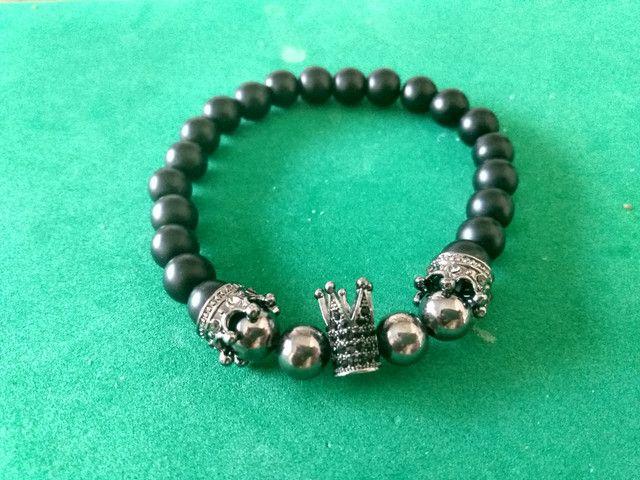 Bracelete Zircônias Pretas - Foto 6