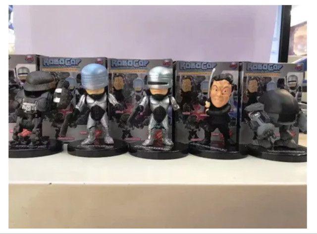 5 Miniatura Bonecos Robocop Ed-209 Murphy Colecionáveis - Foto 2