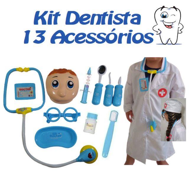 Kit Dentista Infantil Menino Azul - Promoção