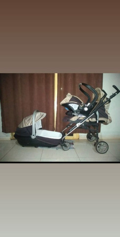 Trio carrinho , moises e bebe conforto chicco - Foto 4