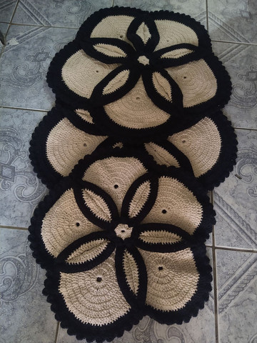 Tapete banheiro crochê - Foto 3