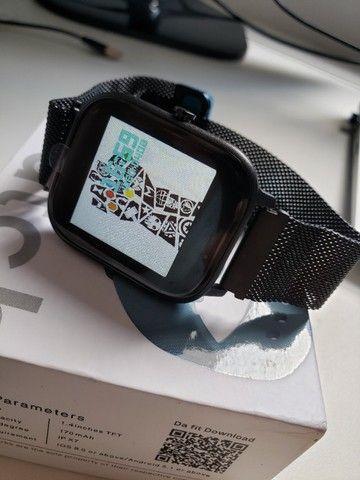 Smartwatch Colmi P8 Pulseira de Metal Preto Notificações - Foto 6