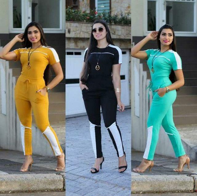 Conjunto feminino/ legging/ moletom ATACADO - Foto 2