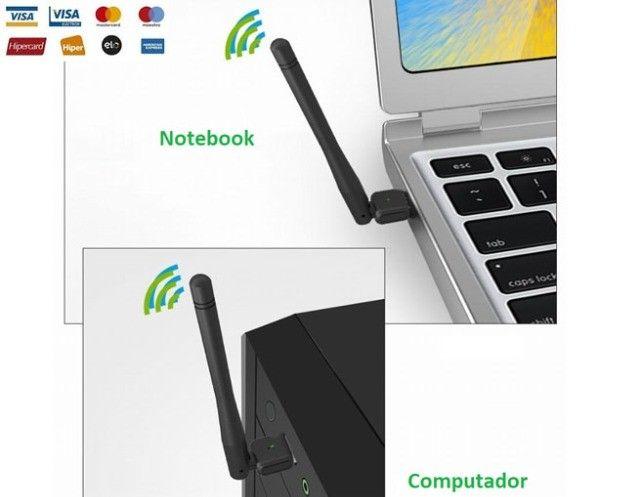 Usb Antena Wireless, Computador Wifi, Receptor e Notebook Wi-fi - Foto 3
