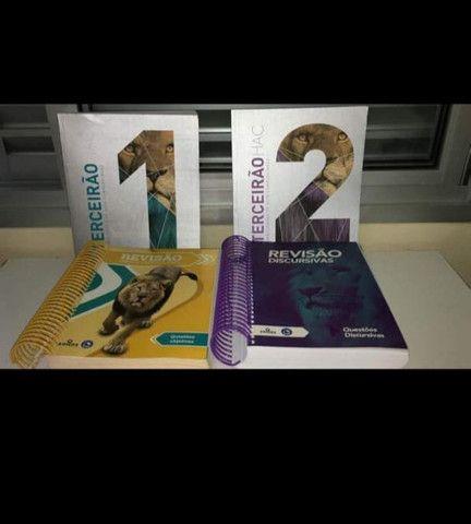 Livros revisão Enem e vestibulares, novos R$1500,00