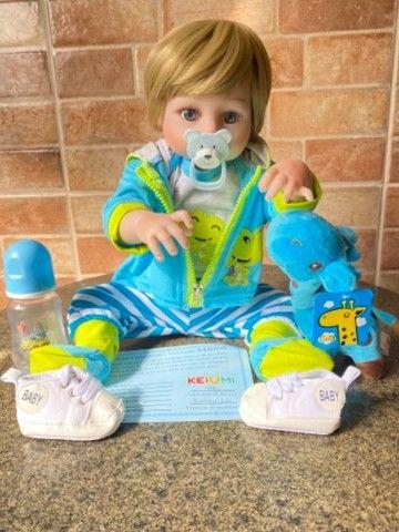 Bebê Reborn Menino todo em silicone loiro Novo (aceito cartão ) - Foto 3