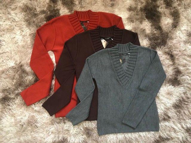 Blusões gola V - Inverno 2021 - Foto 3