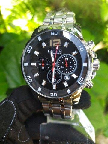 Relógio Megir Luxo Original entrega grátis