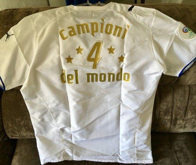 Camisa Itália Comemorativa Tetra 2006 - Foto 2