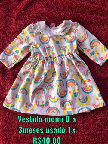 Vestido momi 0 a 3meses