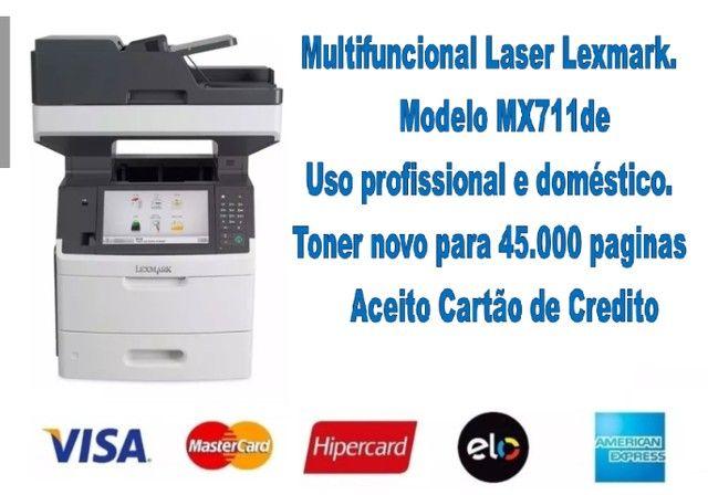 Impressora Laser Lexmark MX711de  - Super conservada.  - Foto 6