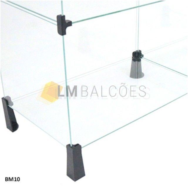 Balcão Atendimento Em Vidro Temperado Em L 1,50 X 1,00 X 0,30 - Foto 4