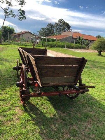 Carroça de boi antiga  - Foto 5