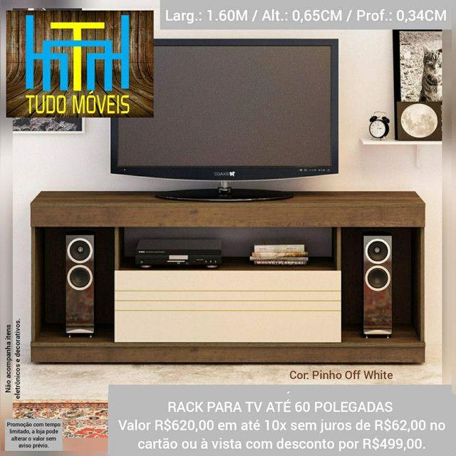 RACK PARA TV ATÉ 60 POLEGADAS 1 PORTA (ENTREGA GRÁTIS) - Foto 2