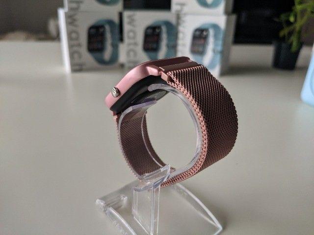 Smartwatch Colmi P8 Pulseira de Metal Notificações Pink - Foto 5