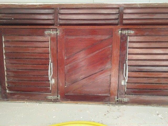 Janelão 150cm x 80cm de madeira de lei Massaranduba - Foto 4