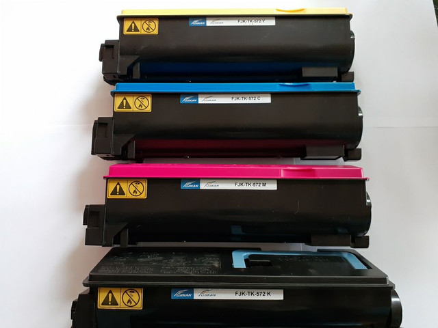 4 Toners Kyocera Tk 572  Magenta,Black,Yellow,Cyano 100% Compatível