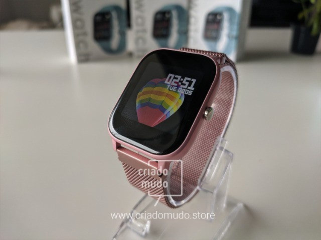 Smartwatch Colmi P8 Pulseira de Metal Notificações Pink