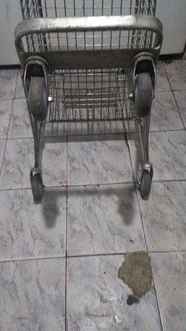 Carrinho de supermercado, conservado, usado 170,00 - Foto 2