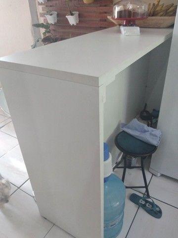 Mesa balcão de 1.50cm e 3 cadeiras bar - Foto 5