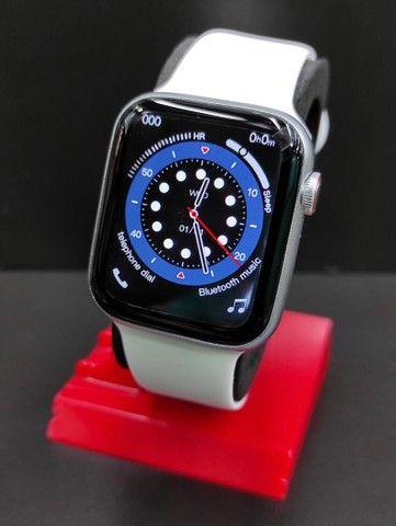 Relógio Inteligente Smartwatch Iwo w26 Plus Original Preto Rosa Top - Foto 3