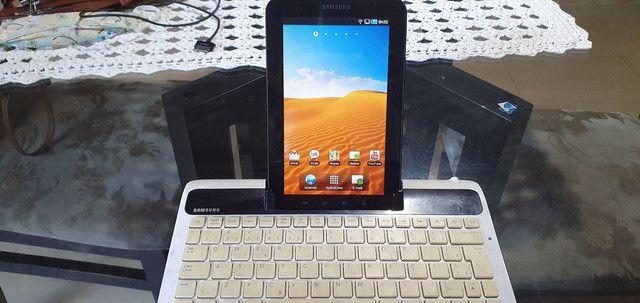 Tablet e teclado Samsung