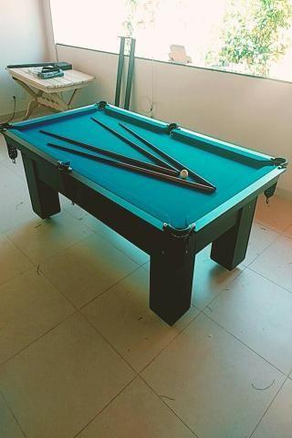 Mesa Semi oficial Cor Preta Tecido Azul Mod. PDQK8926 - Foto 3