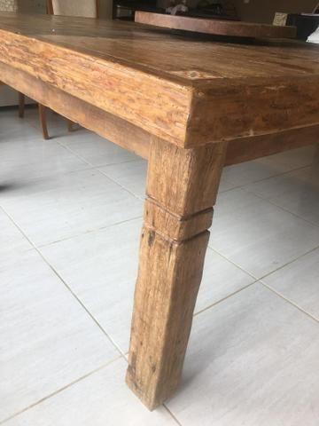 Pra levar: Mesa em Madeira Rústica_Preço IMPERDÍVEL - Foto 2