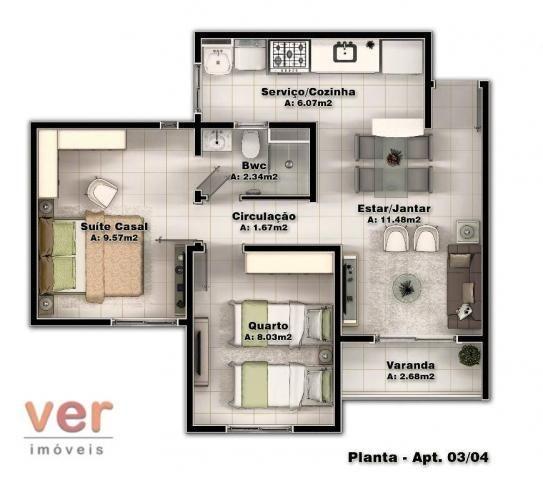 Apartamento com 2 dormitórios à venda, 48 m² por R$ 197.930 - Parangaba - Fortaleza/CE - Foto 4