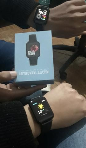 Promoção Smartwatch telefone Inteligente da Frequência Cardíaca Monitor de Pressão Arteria - Foto 2