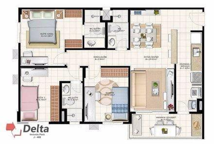 Varanda castanheira. apartamento com 2 dormitórios para alugar, 68 m² por r$ 1.650/mês - a - Foto 11