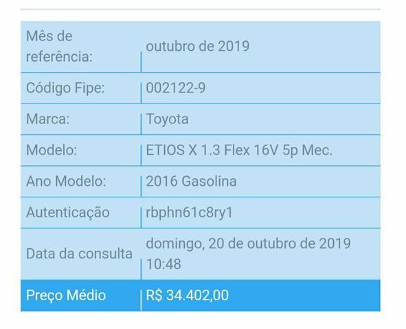 Etios 1.3 X Hatch 2016 abaixo da Fipe - Foto 7