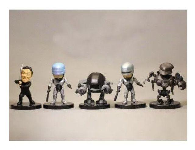 5 Miniatura Bonecos Robocop Ed-209 Murphy Colecionáveis - Foto 4