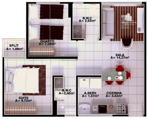 Parque das Flores - Apartamento com 2 dormitórios à venda, 50 m² por R$ 180.000 - Foto 2