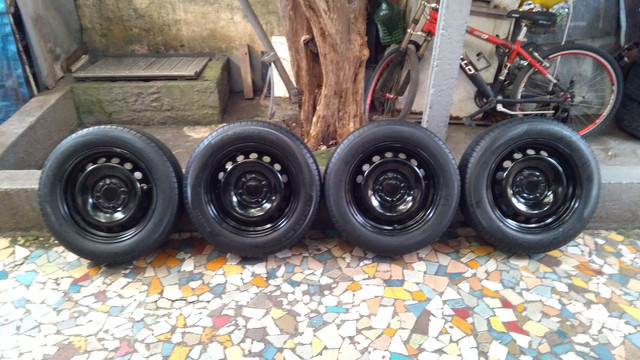 Jogo de rodas de ferro aro 14/4 furos originais Ford Ka Ford Fiesta e outros - Foto 9