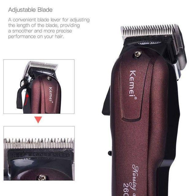 ?Máquina de Cortar Cabelo Profissional Sem Fio Kemei 2600 Hairclipper<br> - Foto 2